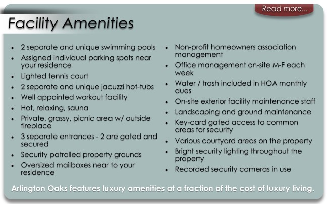 Facility Amenities Main Page Button